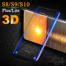 3D on for samsung galaxy s10 s9 protective glass tempered s8 plus lite light screenprotector s 8 9 10 sheet film 10s 9s s9+ glas