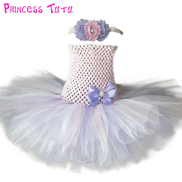 3e190226338ae US $12.49 10% OFF|Pink Lilac White Tutu Dress Birthday Flower Girl  Ballerina Photo Prop Costume Newborn Infant Baby Toddler Tulle Tutu  Dresses-in ...