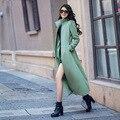 2016 Зиму Шерстяные Пальто Женщин Плюс Размер XS-4XL Стенд Воротник Сплошной Цвет Тонкий Пальто Куртки Манто Femme RS466