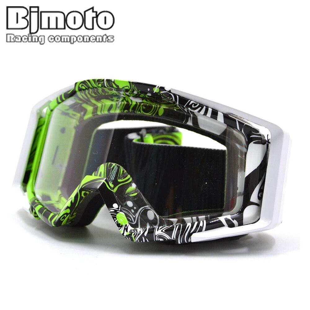 f15e5f7a4a86d BJMOTO 2017 Chegada Nova Alta Qualidade Transparente Esporte De Corrida Off  Road Motocross Goggles Óculos para a Motocicleta Da Bicicleta Da Sujeira