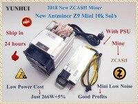 Новый YUNHUI Antminer Z9 мини 10 К Sol/s 300 Вт ZCASH ZEN ZEC BTG Asic Equihash Шахтер Может мои ZEN ZEC BTG монет может достигать до 14
