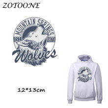 ZOTOONE Patches for Clothing Wolf Tiger Heat Transfer DIY Accessory Decoration Iron on Beaded Applique Clothes T Shirt