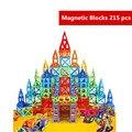 215 pcs Pure Os Designers de Construção Blocos de Construção Magnético Blocos Magnéticos Brinquedos Educativos Magnéticos Brinquedos Prédio De Tijolos Crianças