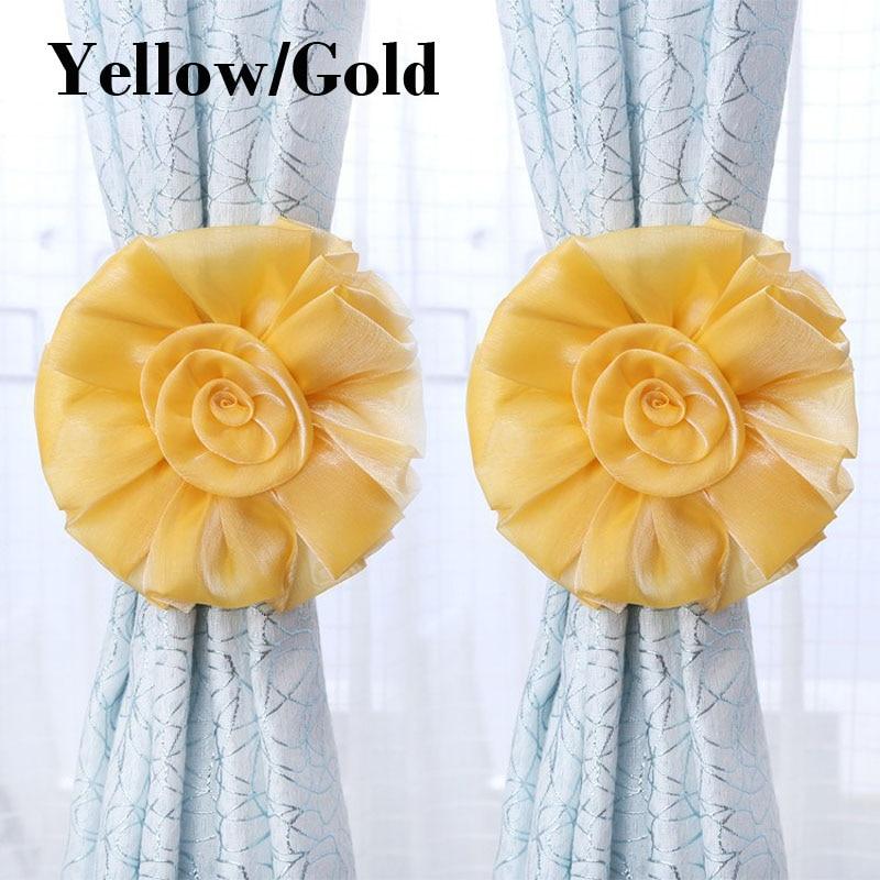 Bunga romantis yang indah tirai tieback, Elegan dan fashion tirai - Dekorasi rumah - Foto 1