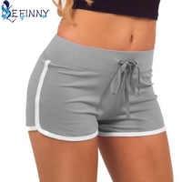 sportes Fast Drying Drawstring Women Shorts Casual Anti Emptied Cotton Contrast Elastic Waist Correndo Short Pants