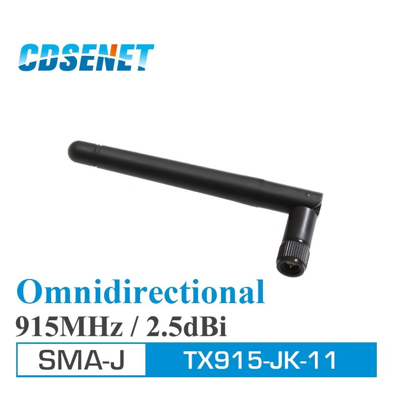 imágenes para 10 Unids/lote TX915-JK-11 Omni 915 MHz de Alta Ganancia Wifi Antena Original CDSENET SMA Macho Cable de Antena uhf Antenas De Comunicación