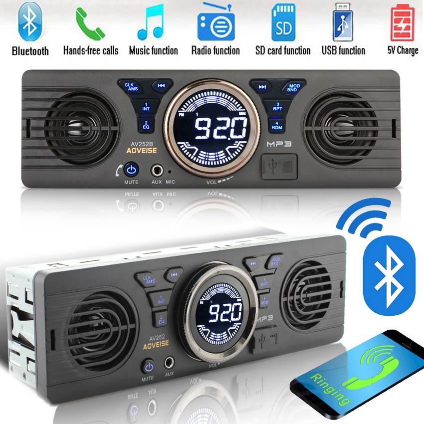 1 din car radio mp3 player built in 2 speaker support usb. Black Bedroom Furniture Sets. Home Design Ideas