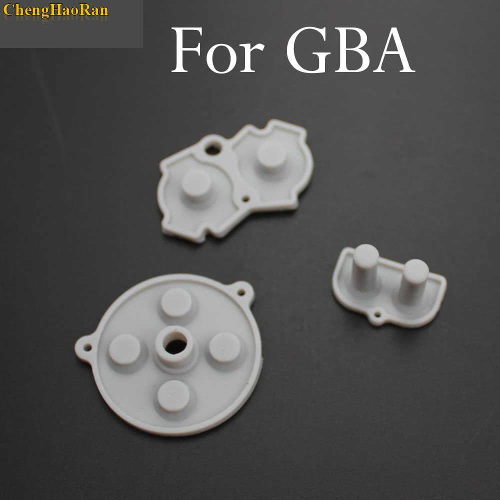 1 セットゴム導電性ボタン ABDE パッドゲームボーイクラシック GB GBA GBC GBP GBA SP シリコーン開始選択キーパッド修理部品