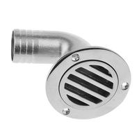 Marine Stainless Steel Boat Deck Drain Scupper 90 Degree For Boat/Yacht/Sailboat Replacement Accessories