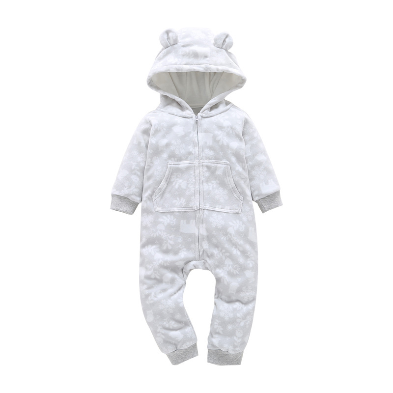 HTB1NMh0zOCYBuNkSnaVq6AMsVXaf 2018 New Bebes Clothes Newborn One Piece Fleece Hooded Jumpsuit Long Sleeved Spring Baby Girls Boys Body Suits Romper