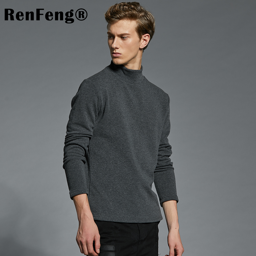 Men's Cotton Undershirts Underwear Long Sleeved Undershirt Spring Turtleneck Shirts Bodybuilding Solid Color Thermal Basic Shirt (8)
