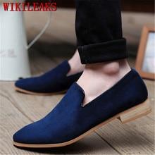 Классические мокасины; модельные туфли; мужские туфли-оксфорды из натуральной замши; мужские лоферы; официальная Свадебная обувь; Sapato Social