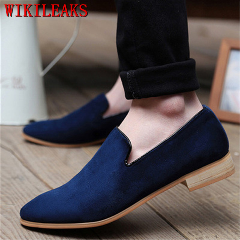 Classic Moccasins Dress Shoes Men Genuine   Suede     Leather   Oxford Shoes For Men Loafers Formal Wedding Party Shoes Sapato Social