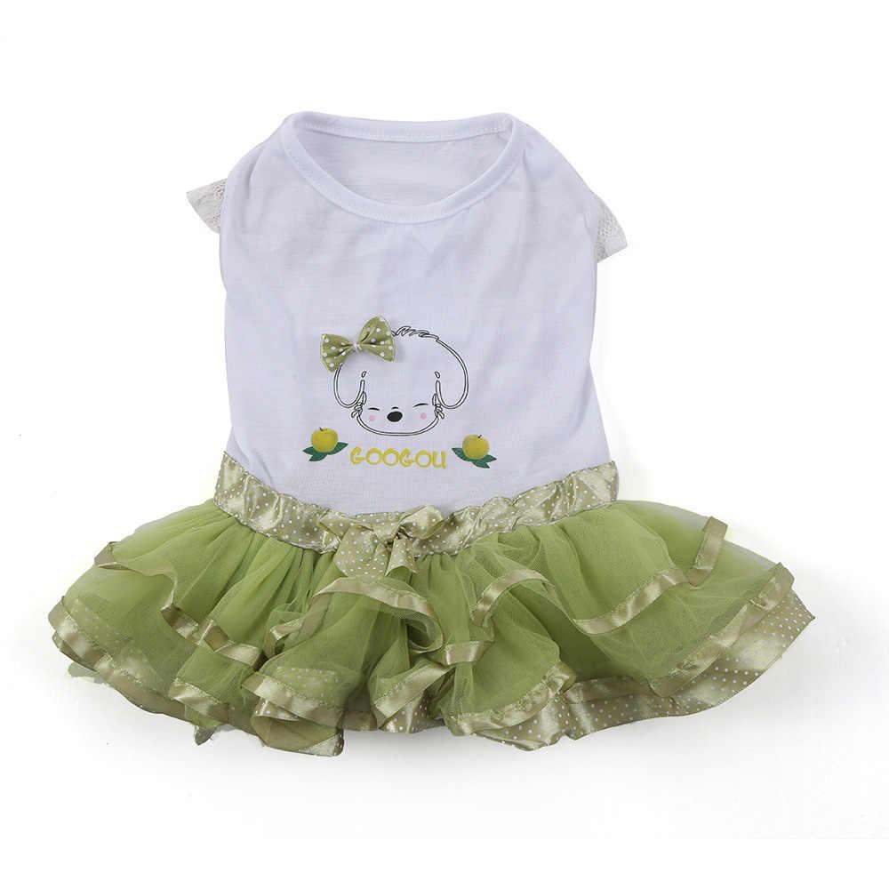 Платье-пачка для собак сетчатая юбка наряд принцессы с принтом фруктов для маленьких собак
