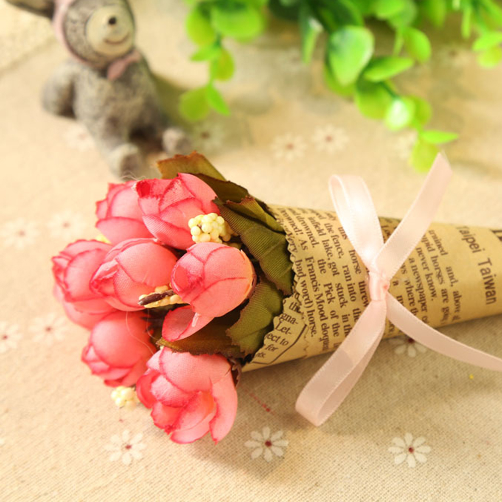 Diy Vintage Newspaper Wrapping Paper Flower Bouquet Craft Paper Xmas