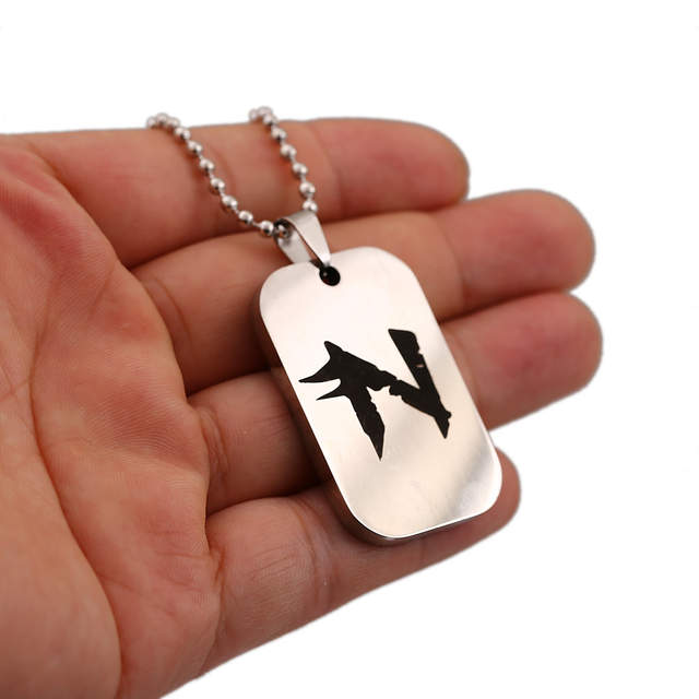 US $2 59 10% OFF|Game Neverwinter Nights 2 Key Chain Stainless Steel  Necklaces Metal Pendant Dog Tag Silver Keychain Keyrings Necklace for  Men-in Key