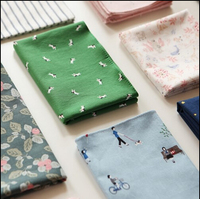 20167 Korea Cute Little Fresh Handkerchief Cotton Handkerchief Ms Large Square Napkin Made With Fabrics Free