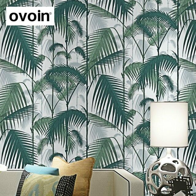 Vert Tropical Palmier Feuilles Papier peint Bois Jungle Forêt mur rouleau de papier