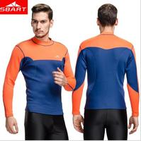 New Arrival 2MM Neoprene Wetsuit Tops Mens Swimming Shirt Long Sleeve Surf Neopreno Rashguard Plus Size 3XL L741