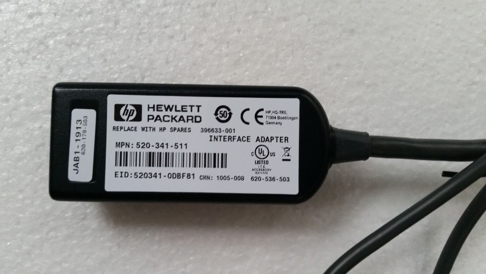 Spare Part No HP KVM USB Interface Adapter Cable 336047-B21 396633-001
