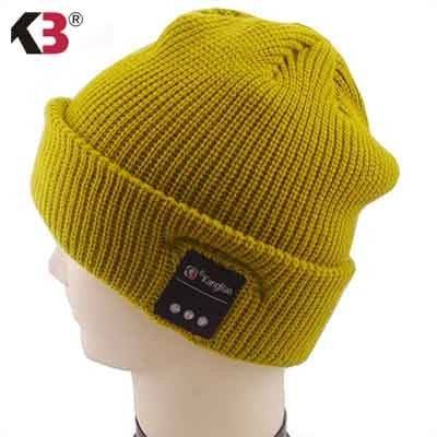 Acrylic Knitted Wireless Smart Caps With Headset Headphone Speaker Mic  (7)