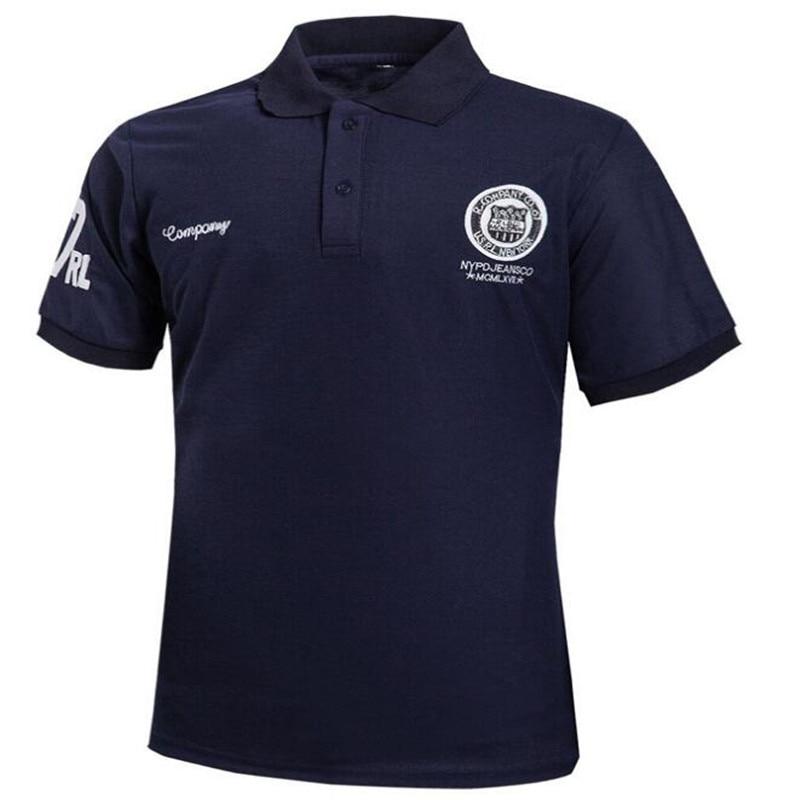 2018 Summer Fashion Embroidered Stand   Polo   Shirt Men's Short Sleeve Casual Men's Shirt Slim   Polo   Men's Cotton Men's   Polo
