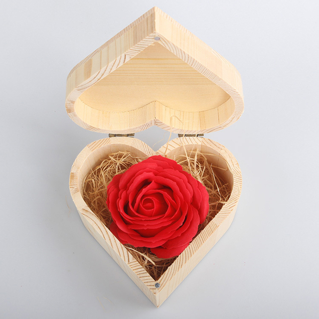 Rote Rosen Seife Rosen Machen Valentinstag Geschenk Box Verpackung