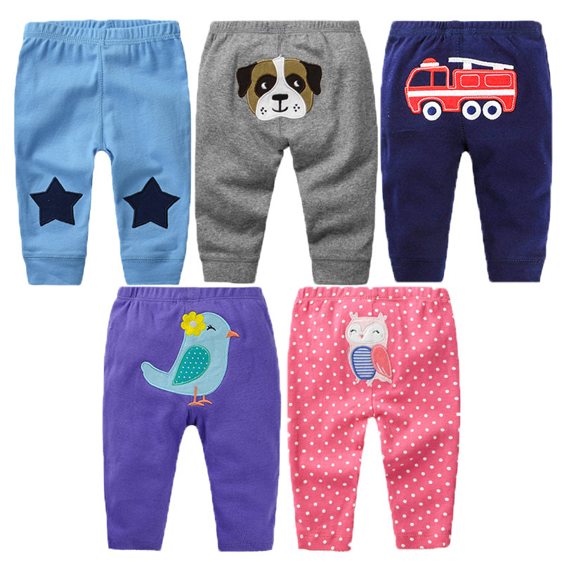 5Pcs Baby Pants Spring Baby Girl Clothes Cotton Baby Boy Clothing Cartoon Newborn Pants Roupas Bebe Infant Baby Trousers