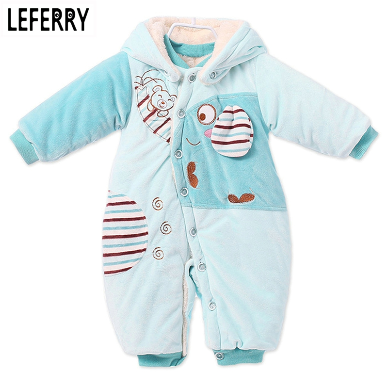 Winter Clothes Infants Baby Bunny Cartoon Romper Newborn Clothing Unisex Corduroy Jumpsuit Bebe Headed Leotard Toddler Snowsuit puseky 2017 infant romper baby boys girls jumpsuit newborn bebe clothing hooded toddler baby clothes cute panda romper costumes