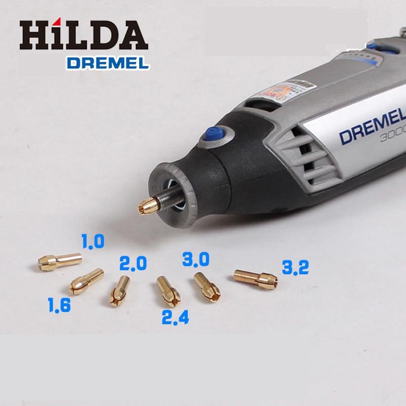 "6 vnt daugiafunkcinis gręžimo griebtuvas ""Dremel"" sukamiesiems įrankiams, 1 mm / 1,6 mm / 2 mm / 2,4 mm / 3,0 mm / 3,2 mm, ""Dremel"" priedai"