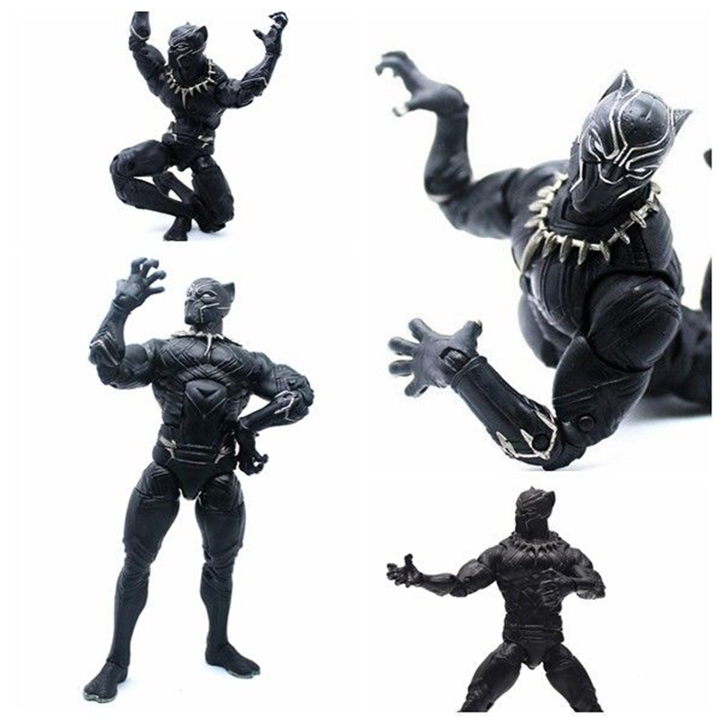 6 Black Panther Action Figure Wakanda T'Challa Marvel The Avengers Captain America: Civil War Movies Figures Gift for Kids Boys anime civil war action figures captain america statue avengers bust collection model toy