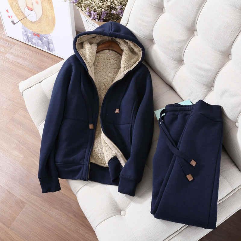 Sudadera de otoño-invierno para mujer, chaqueta holgada de terciopelo con capucha, sudadera de manga larga, ropa deportiva cálida, sudaderas con capucha para mujer Z64