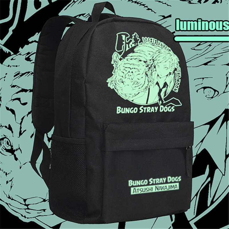 Anime Bungou Stray Dogs Backpack College Student School Rucksack Book Bags For Teenagers Casual Travel Daypack Mochila #6