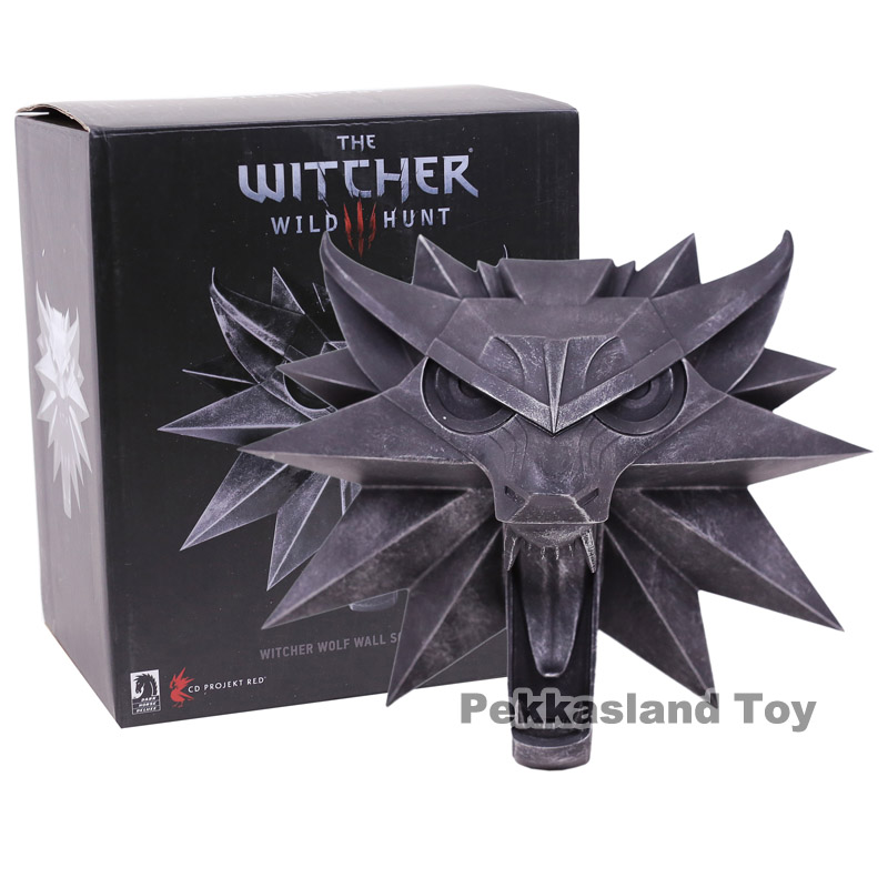 купить The Witcher 3 Wild Hunt Witch Wolf Wall Sculpture PVC Figure Collectible Model Toy