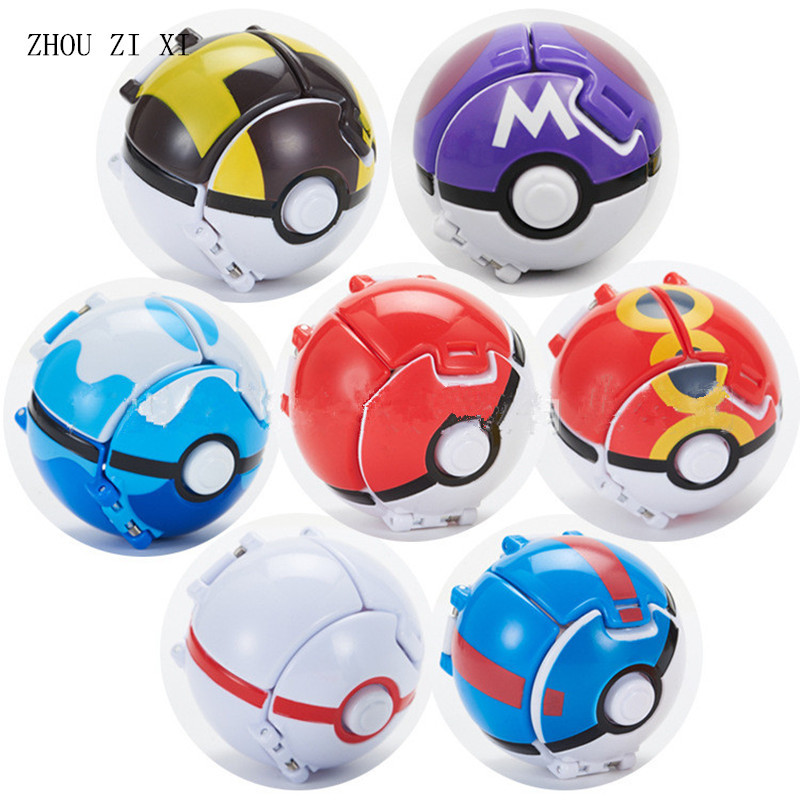 Cartoon Series Anime Game Characters Pikachu Ball Classic Toys For Children Bursting Toy Ball 1 Ball +1pet