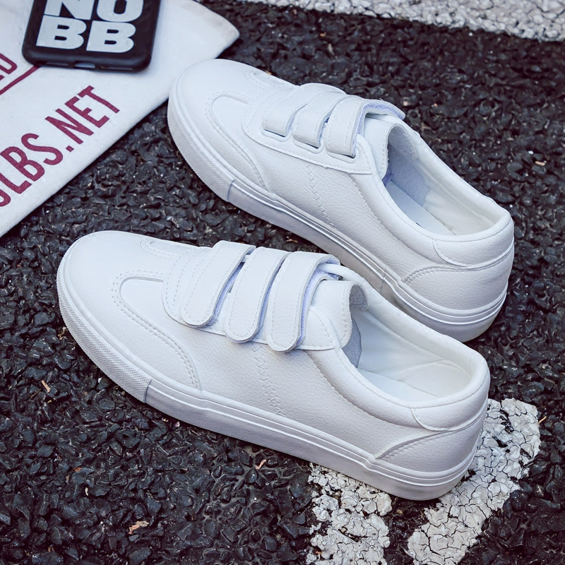2018 new womens shoes spring fashion casual sneakers platform leather women vulcanized shoes platform breathable solid color