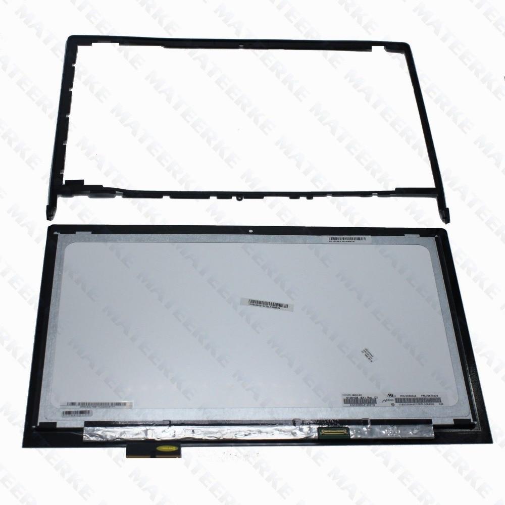 "New 15.6/"" LCD LED Touch Screen Bezel Assembly Frame for Lenovo Edge 2-1580 80QF"