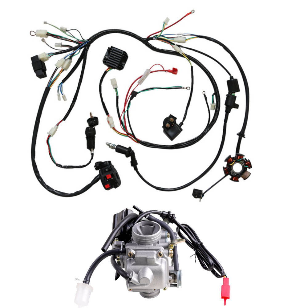 aliexpress com   buy for gy6 125cc 150cc carburetor electrics wiring harness quad atv buggy