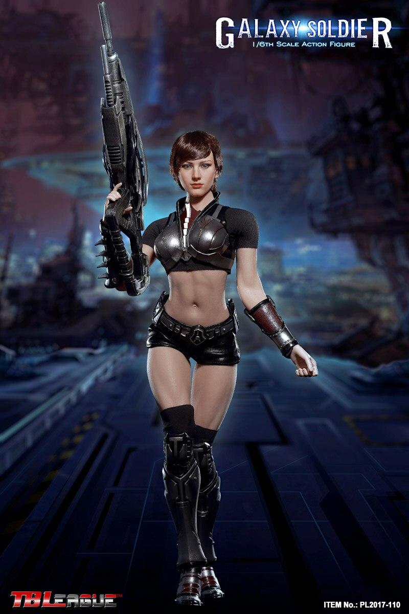 "TBLeague PL2017-110 1//6 Scale Galaxy Soldier 12/"" Female Figure Knee Armors Model"