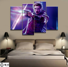 Hot Sales Without Frame 4 Panels Picture Marvel Star-Lord Film Canvas Print Painting Artwork Wall Art Wholesale