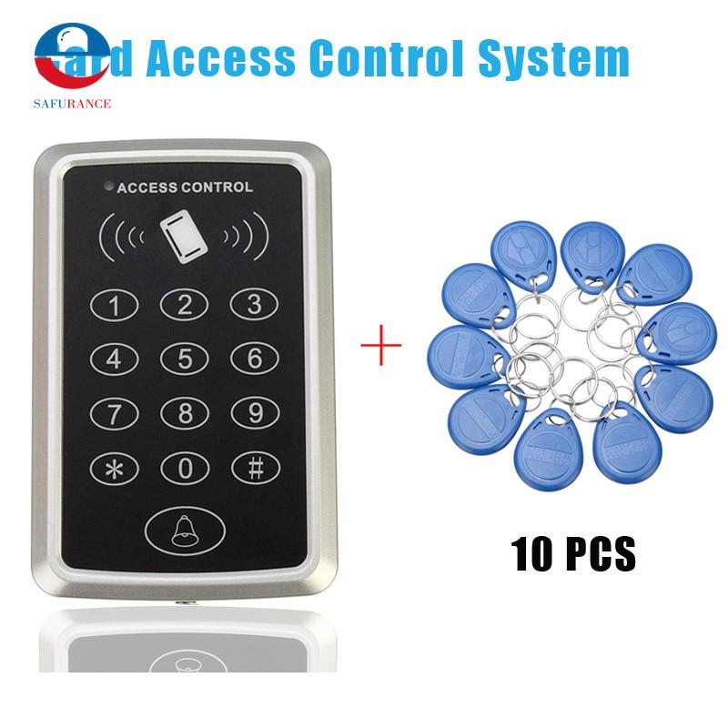 10 rfid tag+RFID Proximity Card Access Control System RFID/EM Keypad Card Access Control Door Opener turck proximity switch bi2 g12sk an6x