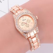 Butterfly Rose Gold Plated Women's Elegant Luxury Rhinestone Bracelet Quartz Watch Fashion Ladies Fashion Dress Watches Relogio