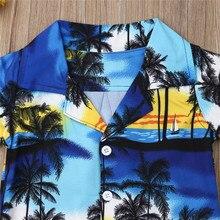 Summer Boy Hawaiian Beach Outfit Set