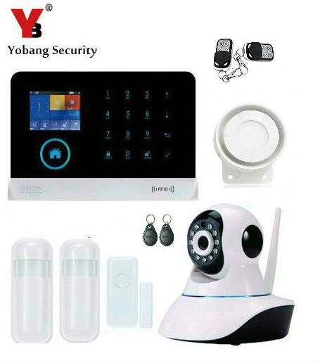 Yobang Security-WIFI GSM Alarm System For Home House Anti-theft Motion Detector Alarm Monitor Wireless Alarm+2 Remote Controller smart pir mp alert a9 anti theft monitor detector gsm alarm system for home