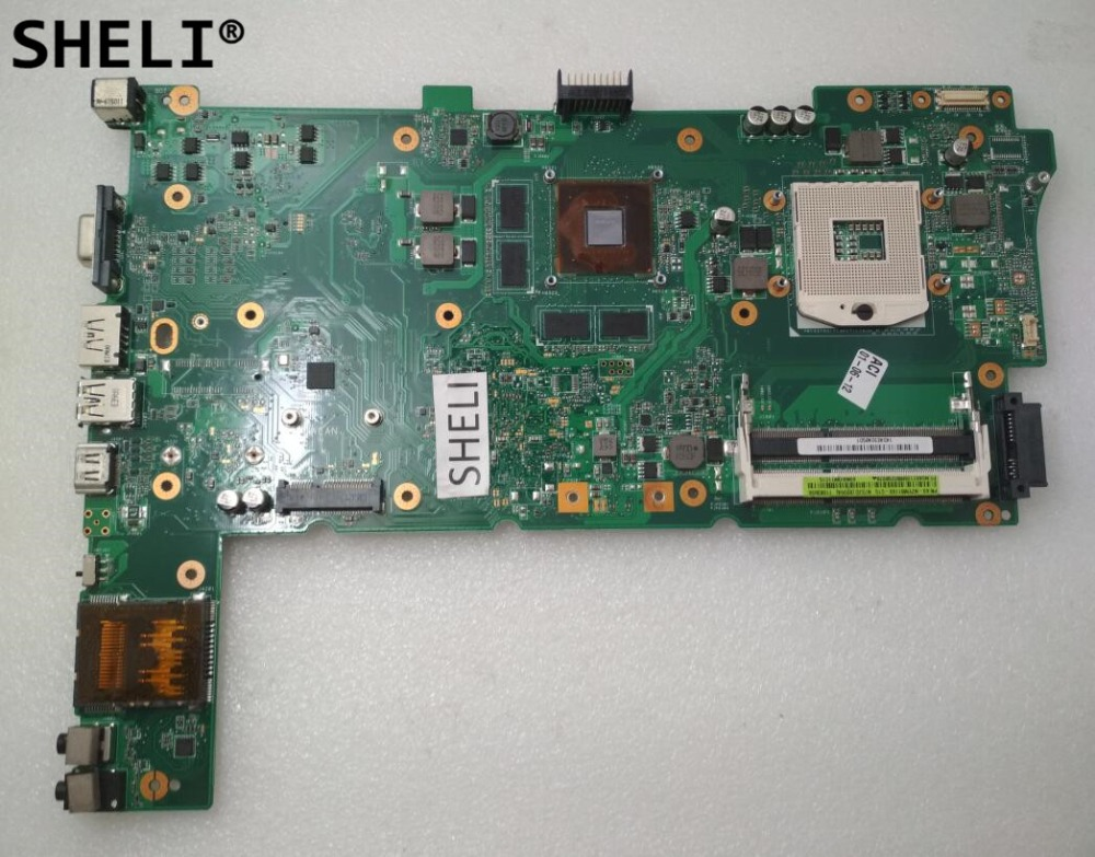 SHELI For ASUS N73JG N73JQ N73JF Motherboard with N11P-GS-A1 GT425M REV 2.1 dhl ems advantech embedded motherboard pcm 9577 rev a1 for industry use a1