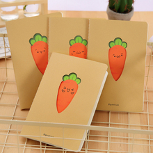 1pcs/lot Lovely Carrots Kraft Paper Diary A5 Notepad Planner Weekly Book School Supplies Stationery