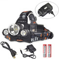 6000 Lumen XM-L T6 LED Headlamp Headlight Super Bright Waterproof Head Light Lamp Torch + 18650 Battery + USB / AC Charger