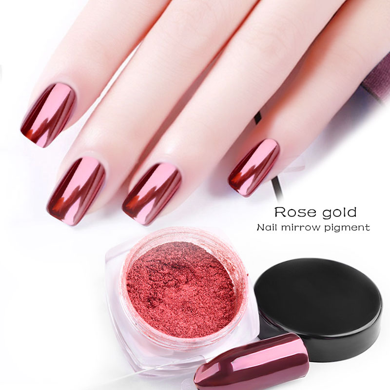 Beateal Mirror Rose Gold Nail Glitter Powder Perfect