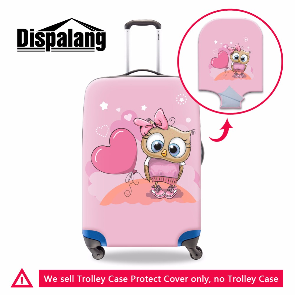 Dispalang Cute Cartoon Luggage Protective Cover For Girls Fashion Lady Travel On Road Suitcase Covers Dustproof Cover Rain Cover