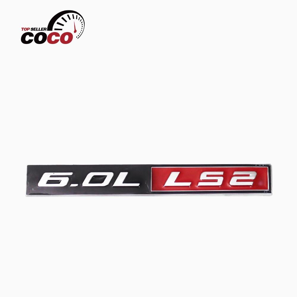 1 pc mobil styling 6 0l ls2 logo mesin mobil fender emblem badge untuk chevy corvette hitam merah chrome racing decal di mobil stiker dari mobil sepeda